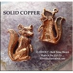 Copper Fox Charm, Raw Copper Casting