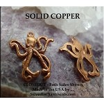 COPPER Octopus Charm
