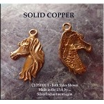 COPPER Horse with Flowing Mane Charm