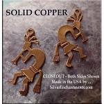 COPPER Kokopelli Charm