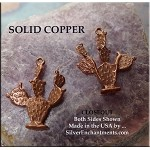 COPPER 3D Prickly Pear Cactus Pendant