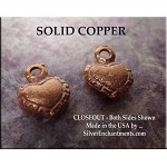COPPER Double-Sided Heart Charm