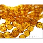 Golden Topaz 6mm Czech Glass Fire Polished Beads