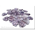AMETHYST Luster 2-Hole Maple Leaf Beads, Czech Glass