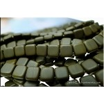 2-Hole CzechMates Tile Beads, Matte UMBER Brown