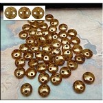 Beige Bronze Picasso Two Hole CzechMates Lentil Beads