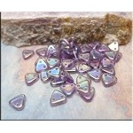 CzechMates Czech Glass Triangle Beads, LIGHT TANZANITE IRIS