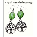 Crystal Tree of Life Earrings with Sterling Silver Earwires