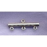 Sterling Silver 3-Strand to One Bar, 25mm
