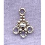 Sterling Silver 3-Drop Chandelier Connector Jewelry Component