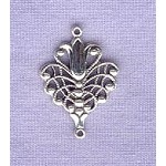 Sterling Silver Victorian Tulip Jewelry Connector, Chandelier, Component