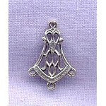 Sterling Silver Victorian 3-Drop Jewelry Finding, Chandelier Earring Parts (1)