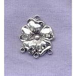 Sterling Silver Flower Chandelier Dangler Jewelry Connector