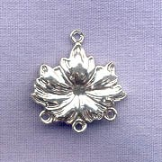 Sterling Silver Flower Connector, Chandelier, Jewelry Component