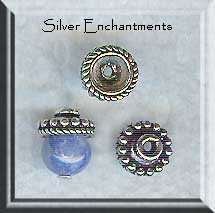 Sterling Silver Topper Bead Caps, 7mm (2)