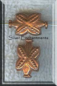 Copper Beads, Art Deco Flower Beads (2)