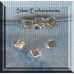 Sterling Silver 5mm Faceted Cube Spacer Bead