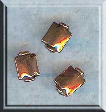 Copper Pillow Rectangle Bead