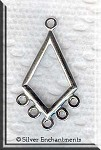 Sterling Silver Diamond 5-Loop Earring Parts, Pair