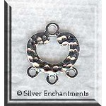 Sterling Silver Hammered Chandelier Earring Findings (2)
