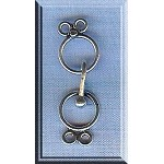 Sterling Silver Double Strand Hook & Eye Clasp Set