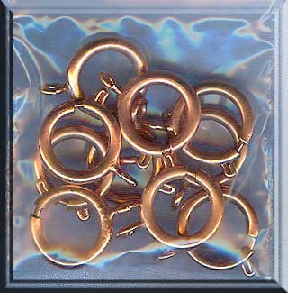 12mm Copper Spring Ring Clasps, Large Copper Trigger Clasps, Bulk 10pc