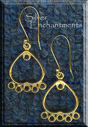 Vermeil Chandelier Earrings, Chandelier Earring Components, Set-Pair