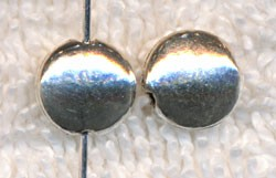 Sterling Silver 8mm Coin Beads, Precious Metal Beads (1)