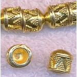 Decorative End Caps with 5mm Opening, Gold (2)