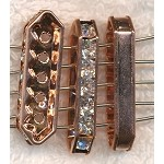 Copper 5-Strand Bead Separator with Crystals