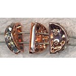 Copper 2-Strand Bead Separator with Crystals