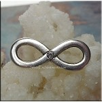 Infinity Jewelry Finding with Crystal, Eternity Connector, 30x12mm