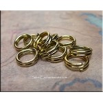 8mm Brass Split Rings (10)