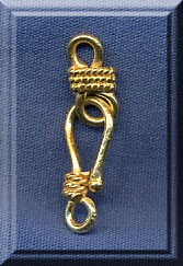 Vermeil J-Hook and Eye Clasp Set