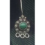 Malachite Head Pins, Sterling Silver and Natural Malachite Headpins (1)