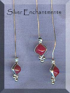 Sterling Silver Ruby Headpins (2)