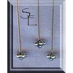 Sterling Silver Fat Daisy with Ball Accent Headpins (10)