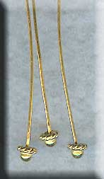 Gold Headpins, Vermeil Ball Headpin with Twist Accent, 21 gauge, 2-inch (1)