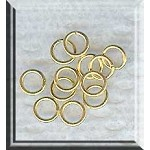 Vermeil Jump Rings, 5mm, 20-gauge (10)