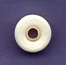 WHITE Nymo Thread, Size B Medium Nylon Beading Thread