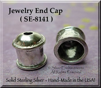 Sterling Silver Multi-Strand Jewelry End Cap, 6mm Opening Endcaps (1)
