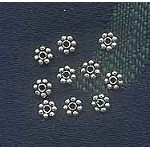 Sterling Silver 4mm Daisy Spacers (10)