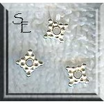 Bright Sterling Silver Diamond Jewelry Spacer, Precious Metal Jewelry Findings (1)