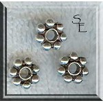 Sterling Silver 9mm Daisy Spacer Bead