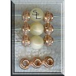 Solid Copper Fancy 3-Strand Bead Separator Finding, 18x6x4mm
