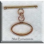 Solid Copper Oval Toggle Clasp
