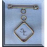 Sterling Silver Diamond Toggle Clasp, 14mm