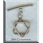 Sterling Silver Star of David Toggle Clasp, Jewish Jewelry Finding