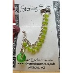 Earcuff Slave Earring, Sterling Silver Beaded Chainmaille Ear Cuff Earring, Cheery Greens