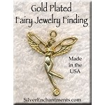 Gold Plated Fairy Jewelry Finding, CLOSEOUT